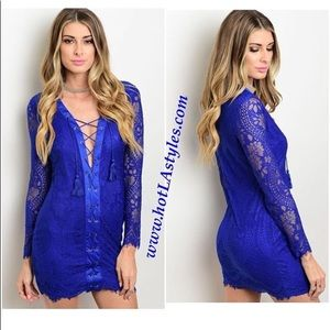 Lukmi blue lace dress